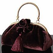 Сумки и аксессуары handmade. Livemaster - original item Velvet purse Handbag collectible, brooch, evening bag. Handmade.