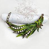 Украшения handmade. Livemaster - original item Lily of the valley necklace (polymer clay, pearls). Handmade.