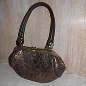 Сумки и аксессуары handmade. Livemaster - original item Bag with clasp genuine leather