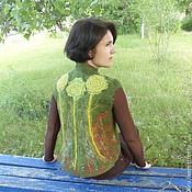 """Одежда ручной работы. Ярмарка Мастеров - ручная работа Валяный жилет """"Дикие травы"""". Handmade."""