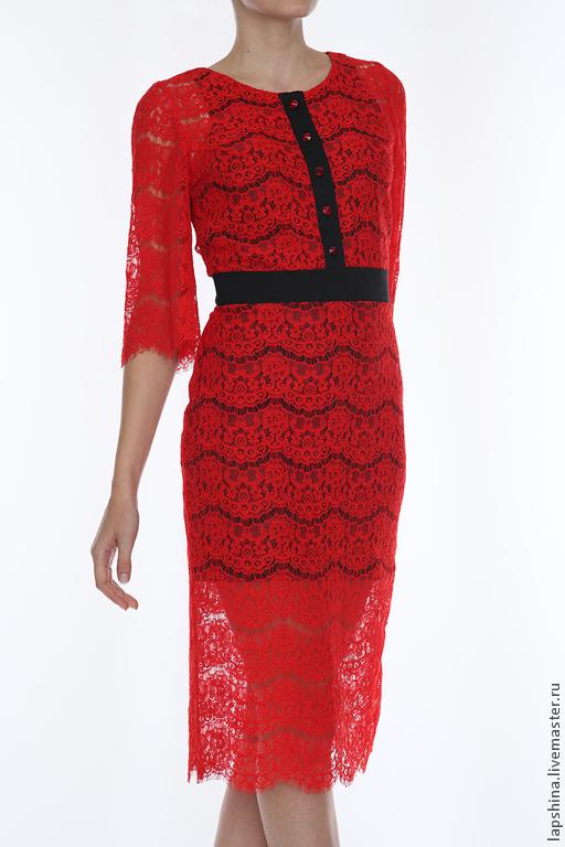 Платья ручной работы. Ярмарка Мастеров - ручная работа. Купить Красное платье. Handmade. Ярко-красный, модная одежда, шёлк