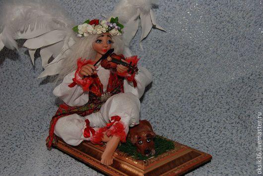 Коллекционные куклы ручной работы. Ярмарка Мастеров - ручная работа. Купить Музыка ангела.. Handmade. Ярко-красный, полимерная глина