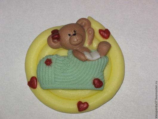 """Мыло ручной работы. Ярмарка Мастеров - ручная работа. Купить Мыло сувенирное """"Тедди малышка"""".. Handmade. Тедди"""