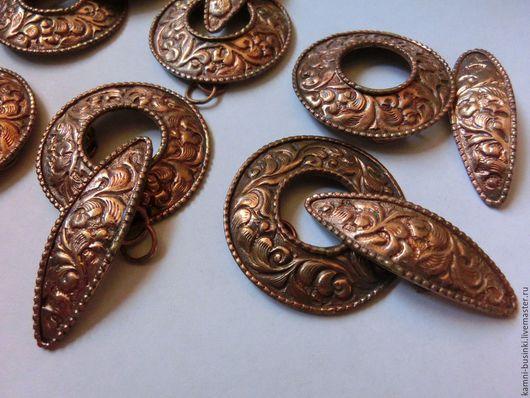 Застежка тогл медь ручной работы Непал. Тибетские Бусины  для колье, непальские бусины для браслетов, Тибетская бусина для серег. Этнические бусины и украшения.