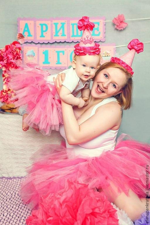 Юбки ручной работы. Ярмарка Мастеров - ручная работа. Купить комплект для мамы и дочки, юбки-пачки. Handmade. Розовый