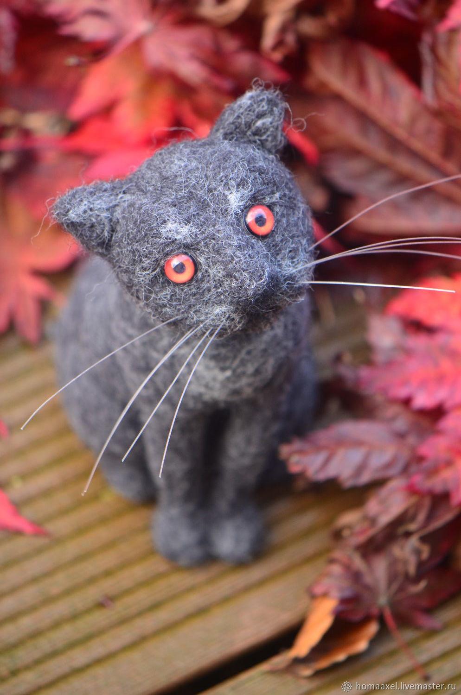 Felt toy Black cat Belor, Felted Toy, Heidelberg,  Фото №1