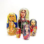 Русский стиль handmade. Livemaster - original item Copy of Women of the World matryoshka nesting wooden dolls. Handmade.