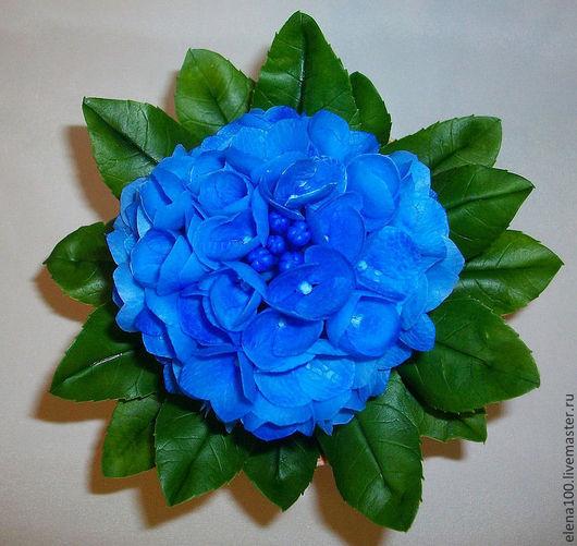 Цветы ручной работы. Ярмарка Мастеров - ручная работа. Купить Гортензия - керамическая флористика. Handmade. Синий, цветочная композиция, для девушки