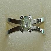 Украшения handmade. Livemaster - original item Ring silver moissanite