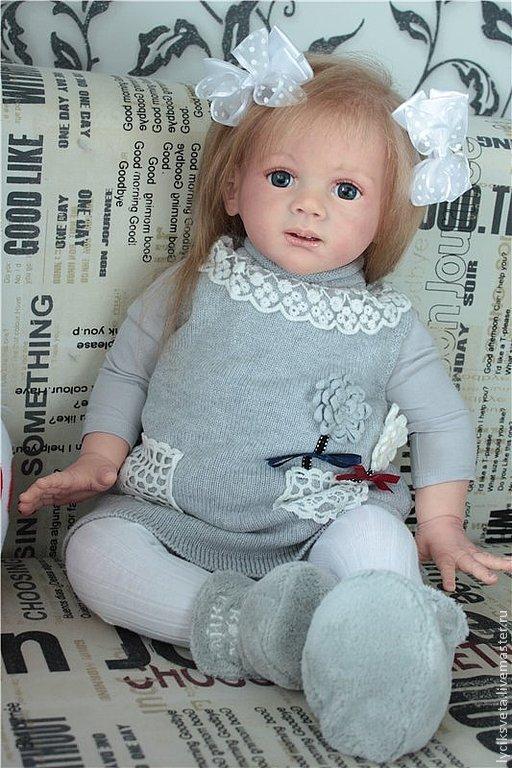 Куклы-младенцы и reborn ручной работы. Ярмарка Мастеров - ручная работа. Купить Фридолин.. Handmade. Бежевый, ковылина светлана, мохер