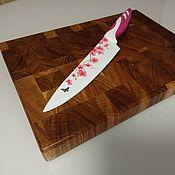 Для дома и интерьера handmade. Livemaster - original item Cutting Board (end) made of oak. Handmade.