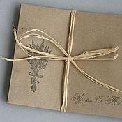 Свадебный салон ручной работы. Ярмарка Мастеров - ручная работа Конверт ручной работы из крафт-бумаги (14х17 см). Handmade.
