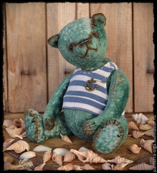 Мишки Тедди ручной работы. Ярмарка Мастеров - ручная работа. Купить авторский мишка тедди Бравый морячок. Handmade.