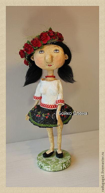 Коллекционные куклы ручной работы. Ярмарка Мастеров - ручная работа. Купить Кубаночка. Handmade. Чёрно-белый, оригинальный подарок