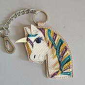 Сумки и аксессуары handmade. Livemaster - original item Pendant.Leather keychain. suspension bag. Leather pendant.Unicorn. Handmade.