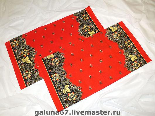 """Кухня ручной работы. Ярмарка Мастеров - ручная работа. Купить """"Красное праздничное"""" полотенце. Handmade. Полотенце, красный, праздничное"""