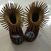 Slippers handmade. Livemaster - original item Sneaker chuni Dream of the fisherman. Handmade.