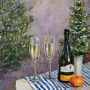 Картины и панно handmade. Livemaster - original item Oil painting Happy New year! 40h30 cm. Handmade.
