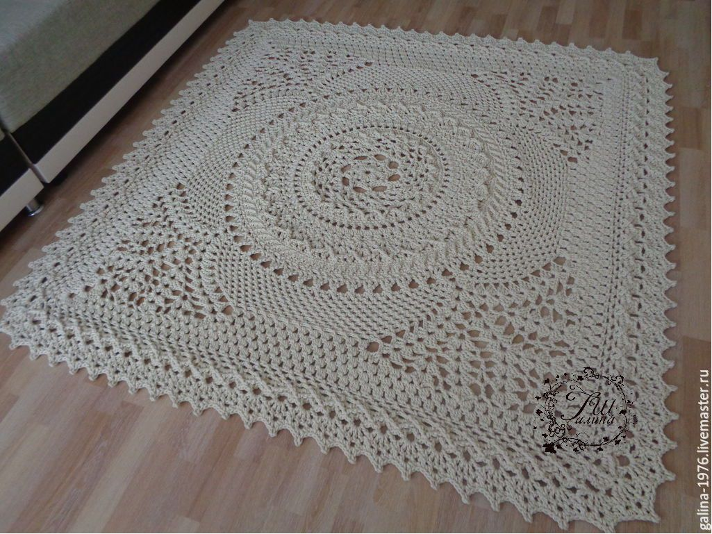 Knitted carpet 'Charity', Carpets, Voronezh,  Фото №1