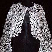 """Одежда ручной работы. Ярмарка Мастеров - ручная работа Болеро """"Белые листья"""". Handmade."""