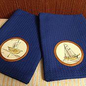 Для дома и интерьера handmade. Livemaster - original item Sea adventures. towel 135h70h. Handmade.