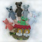 Куклы и игрушки ручной работы. Ярмарка Мастеров - ручная работа Пальчиковый театр Теремок, пальчиковая игрушка, развивающая игрушка. Handmade.