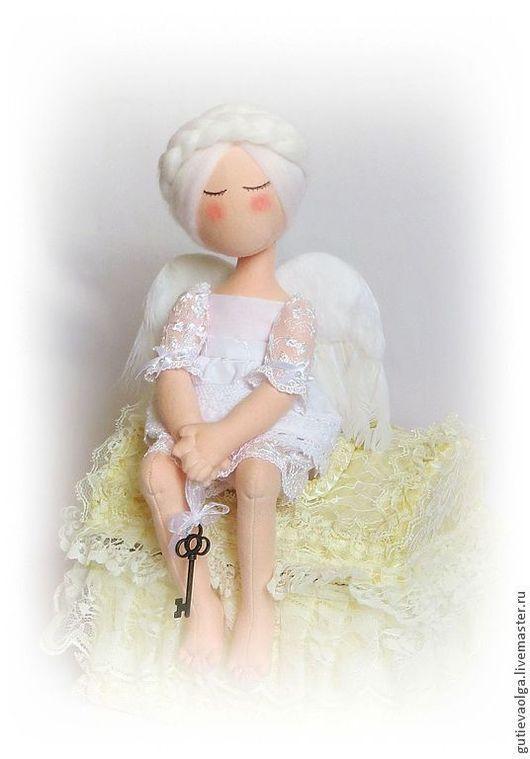 Коллекционные куклы ручной работы. Ярмарка Мастеров - ручная работа. Купить Рождественский Белый Ангел. Handmade. Ангел любви, принцесса