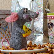 Куклы и игрушки handmade. Livemaster - original item felt rat Thomas. Repeat.(interior toy).. Handmade.