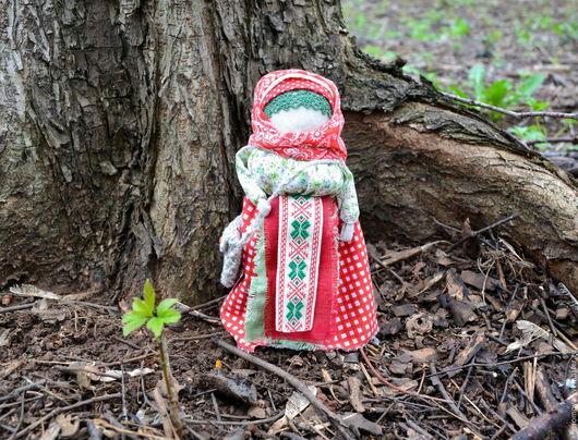 Народные куклы ручной работы. Ярмарка Мастеров - ручная работа. Купить Купчиха - Успешница. Handmade. Ярко-красный, обережная кукла
