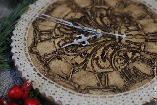 """Часы для дома ручной работы. Ярмарка Мастеров - ручная работа. Купить Часы """"Винтажное кружево"""". Handmade. Часы настенные, потертости"""
