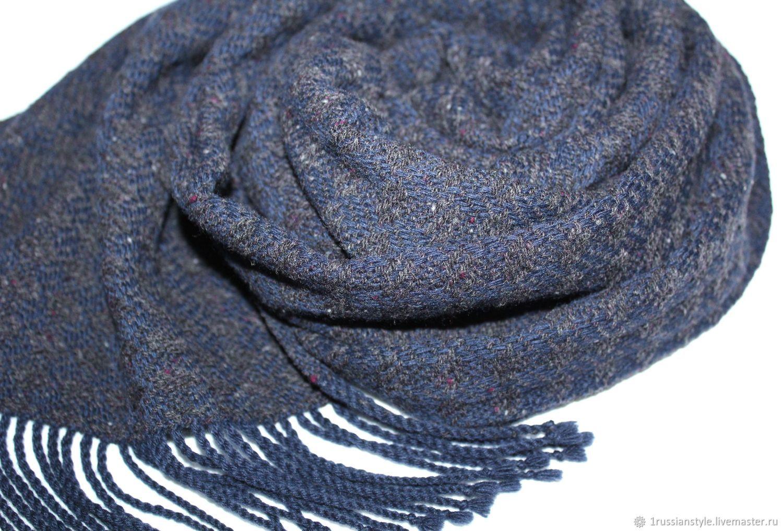 Men's hand-woven tweed scarf. Merino cashmere, Scarves, Aprelevka,  Фото №1