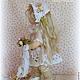 Коллекционные куклы ручной работы. ЛЕЯ.... Коллекционная текстильная кукла. Алена Мазалова. Ярмарка Мастеров. Кукла интерьерная, нежность, подарок