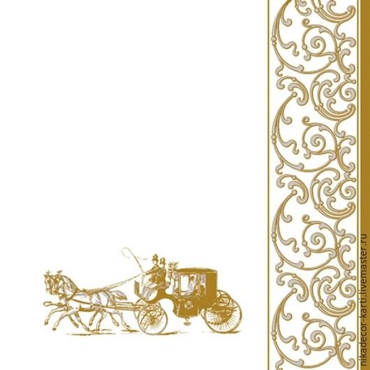 Декупаж и роспись ручной работы. Ярмарка Мастеров - ручная работа. Купить Карета (SLSL000301) - салфетка для декупажа. Handmade. Разноцветный, Декупаж