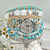 Watches handmade. Livemaster - original item Beautiful Boho watch with stones