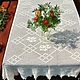 Tablecloth knitted Sweet home  tablecloth handmade  hemstitched table cloth