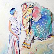 """Картины и панно ручной работы. Ярмарка Мастеров - ручная работа Картина маслом """"Звездное покрывало"""". Handmade."""