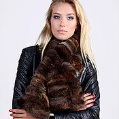 Аксессуары handmade. Livemaster - original item Fox fur scarf brown/black. Handmade.