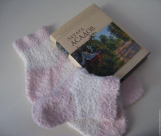 Носочки домашние `Бело-розовые сны `