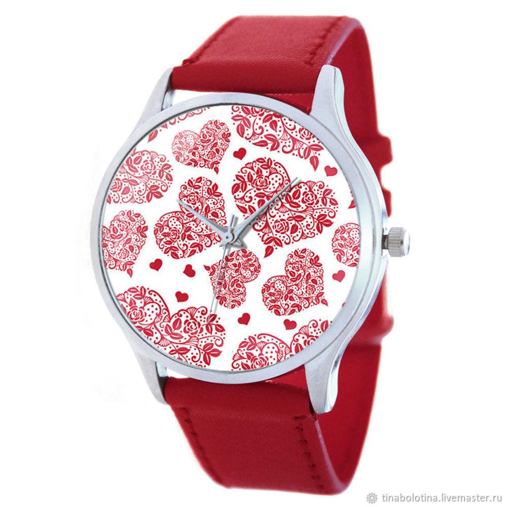 Дизайнерские наручные часы Romantic Love / red c, Часы, Москва, Фото №1