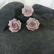 """Украшения ручной работы. Ярмарка Мастеров - ручная работа комплект """" кремовые розы"""" фарфор. Handmade."""