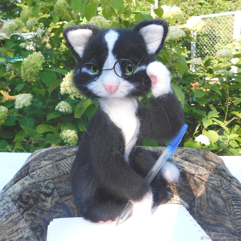 Кот ученый, Войлочная игрушка, Москва,  Фото №1