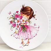 Для дома и интерьера ручной работы. Ярмарка Мастеров - ручная работа Тарелка настенная Маленькая Принцеса. Handmade.