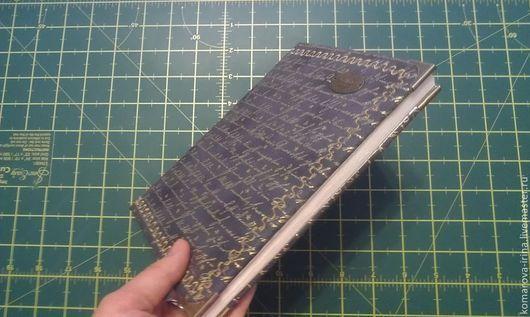 Блокноты ручной работы. Ярмарка Мастеров - ручная работа. Купить Блокнот ручной работы. Handmade. Темно-серый, золотой узор
