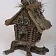 Кукольный дом ручной работы. Ярмарка Мастеров - ручная работа. Купить Избенок Спиридон Курьеногов. Handmade. Авторская ручная работа