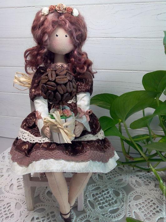 Коллекционные куклы ручной работы. Ярмарка Мастеров - ручная работа. Купить Кофеюшка Лора..... Handmade. Коричневый, ткань хлопок