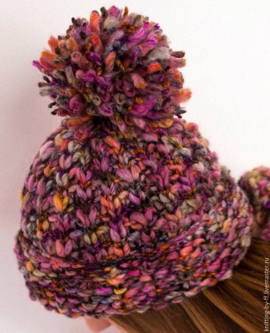 Шапки ручной работы. Ярмарка Мастеров - ручная работа. Купить шапка вязанная женская, итальянская пряжа. Handmade. Комбинированный
