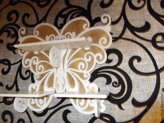 Мебель ручной работы. Ярмарка Мастеров - ручная работа. Купить Полка бабочка (К). Handmade. Белый, на заказ, для детской