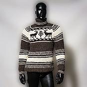 Sweaters handmade. Livemaster - original item Wool knitted sweater with deer. Handmade.