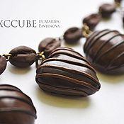 Украшения ручной работы. Ярмарка Мастеров - ручная работа Браслет зефирки шоколадные. Handmade.
