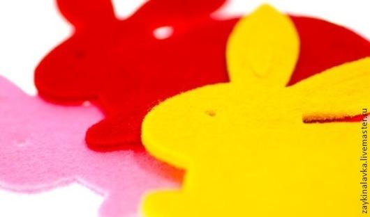 """Другие виды рукоделия ручной работы. Ярмарка Мастеров - ручная работа. Купить Вырубка из фетра """"Кролик"""". Handmade. Разноцветный, Вырубка"""